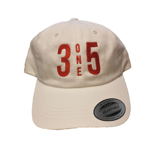 3 One 5 Dad Hat white/Orange