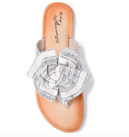 Iman Bow Tie Thong Sandal