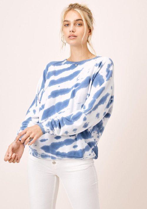 Zebra Tie Dye Fleece Raglan