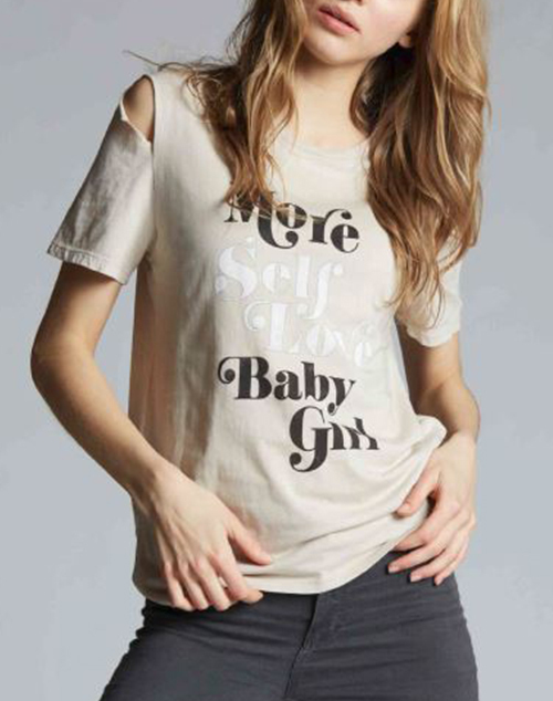 More Self Love Baby Girl Distressed T Shirt