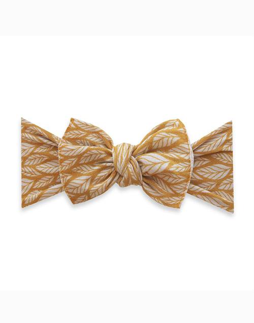 Printed Knot Mustard Leaf Headband