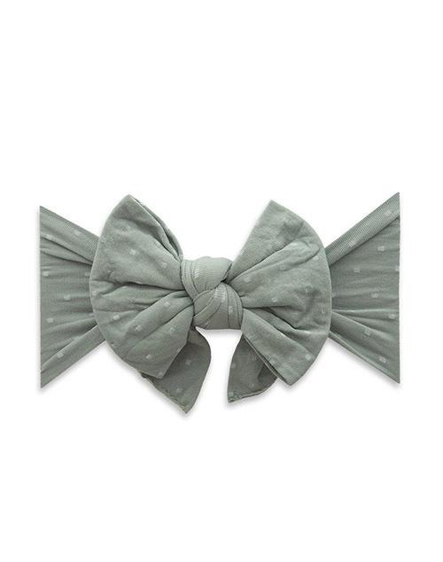 Patterned Shabby Knot Headband - Sage Dot