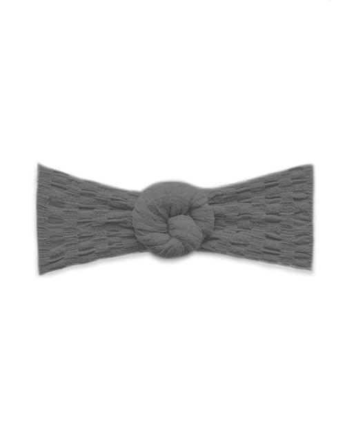 Waffle Bun Headband - Charcoal