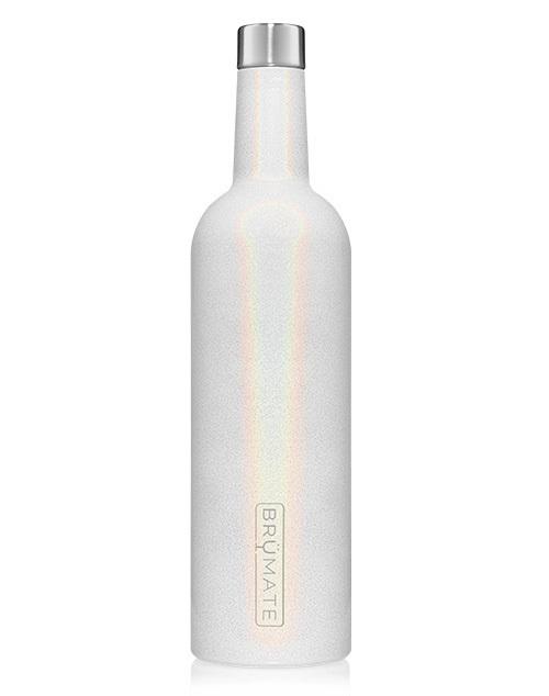 Winesulator 25oz Wine Canten - Glitter White