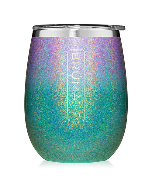 Uncork'D XL 14oz Wine Tumbler - Glitter Mermaid Ombre