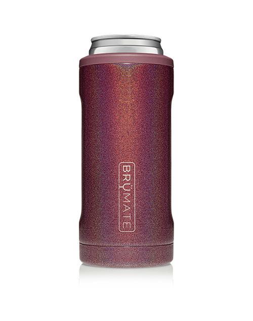 Hopsulator Slim 12oz - Glitter Merlot