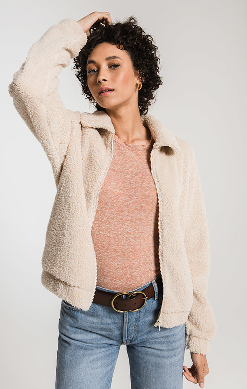 The Pearl Sherpa Crop Jacket