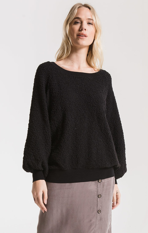 Black Adams Popcorn Sweater