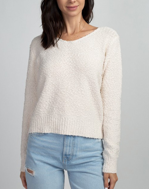 Simple V Neck Sweater