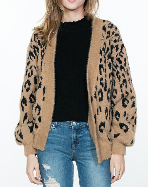 Leopard Sweater Cardigan