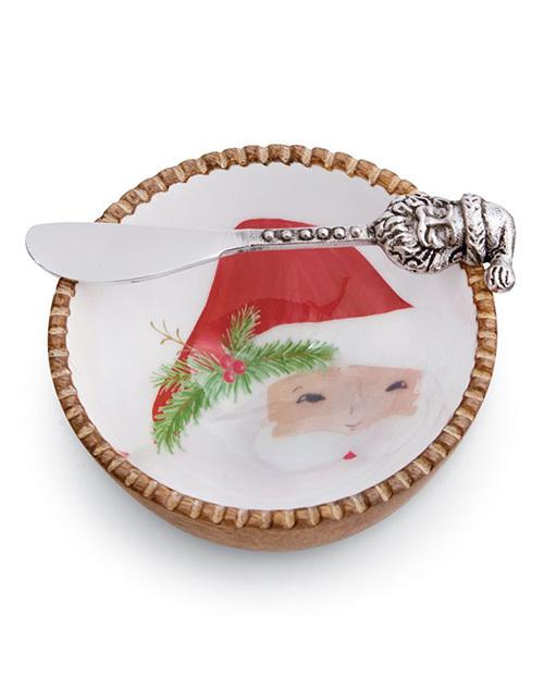 Santa Wood Dip Bowl Set