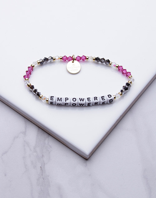 Little Words Project - Empowered Bracelet White
