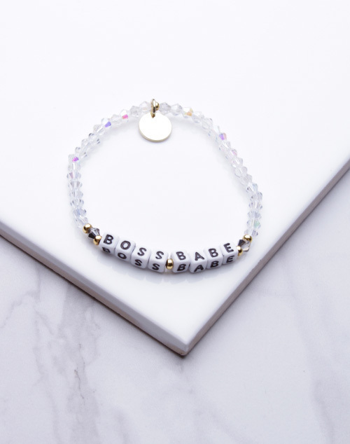 Little Words Project - Boss Babe Bracelet White