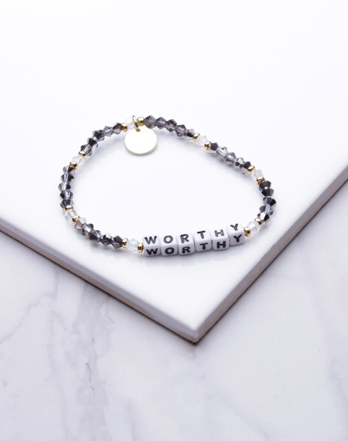 Little Words Project - Worthy Bracelet White