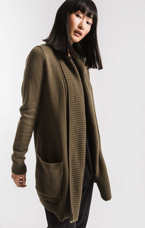 Olive Night Waterfront Cardigan