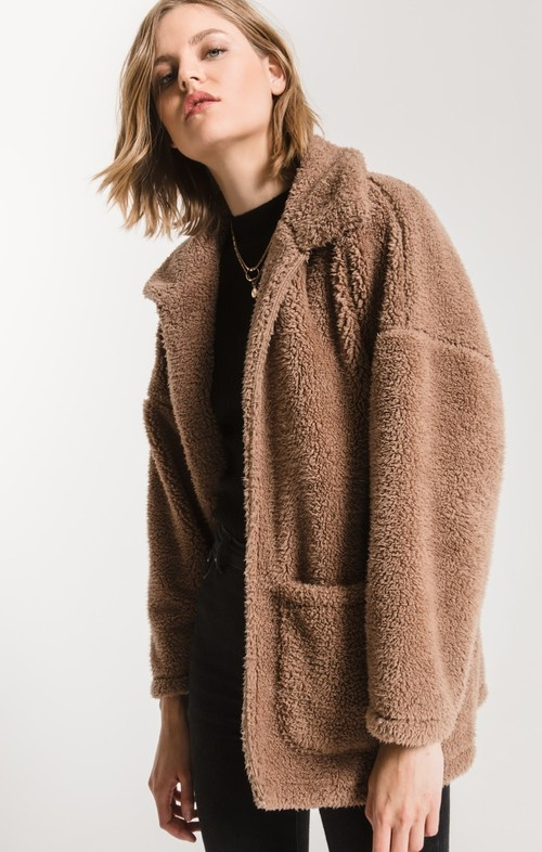 The Toffee Sherpa Teddy Bear Coat