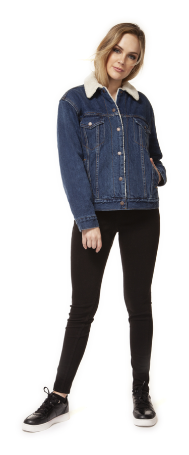Ivy Sherpa Lined Denim Jacket