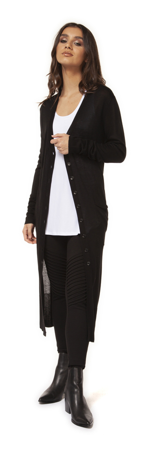 Amara Black Sweater Cardigan