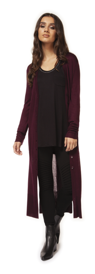 Amara Crushed Velvet Sweater Cardigan