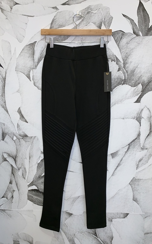 Seren Black Biker Legging