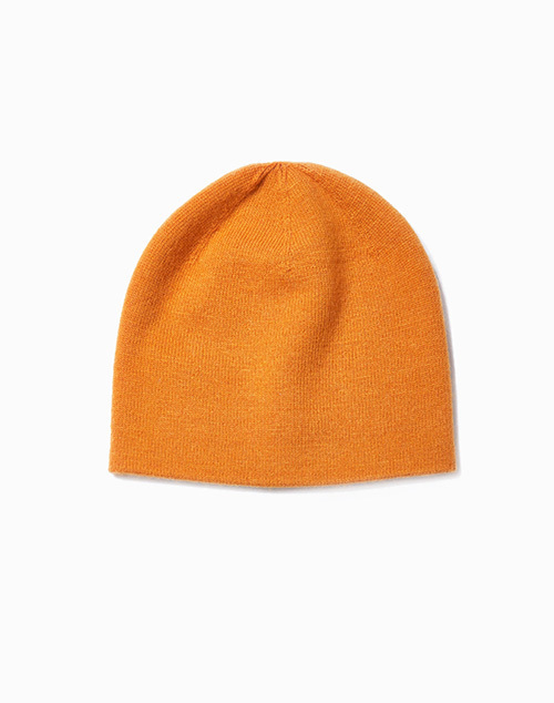 Cashmere Blended Basic Beanie Mustard Yellow
