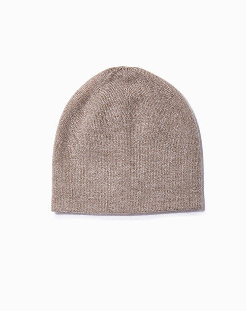 Cashmere Blended Basic Beanie Taupe