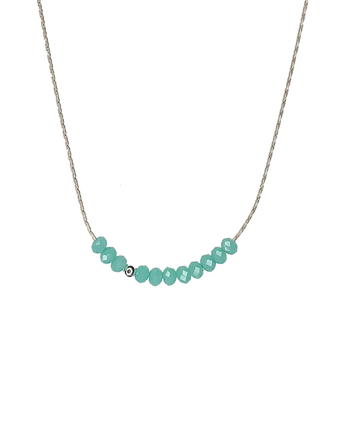 Sprinkle Of Cyan Turquoise Necklace Sterling