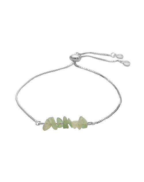 Rock Candy Green Jade Bolo Bracelet Sterling
