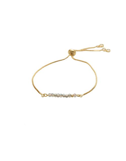 Sprinkle Of Glitter Luminesce Bolo Bracelet 18K Plated