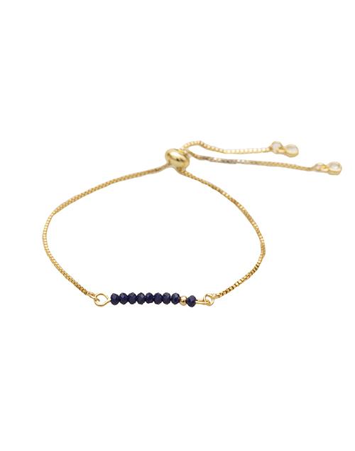 Sprinkle Of Calm - Navy Bolo Bracelet 18K Plated