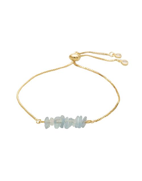 Bolo Aquamarine Rock Bracelet 18K Plated