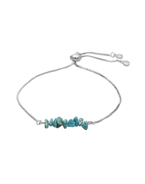 Bolo Turquoise Rock Bracelet Sterling