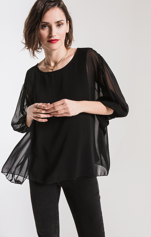 Sierra Black Blouse