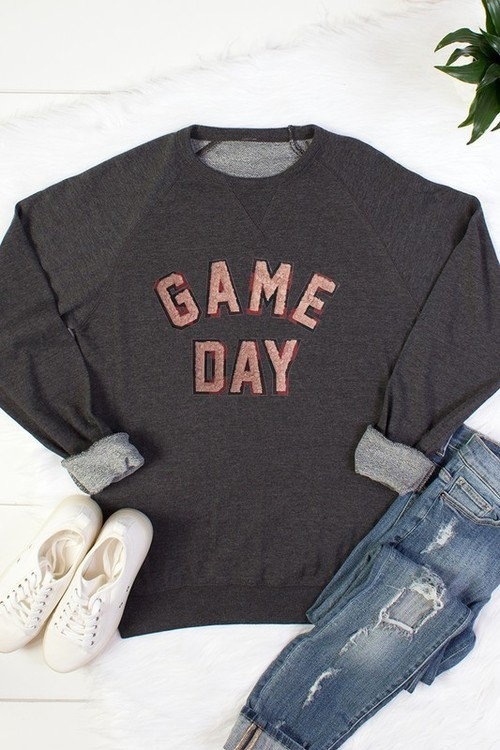 Buffalo Plaid Game Day Pullover