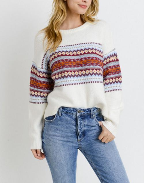 Knit Horizontal Detail Sweater
