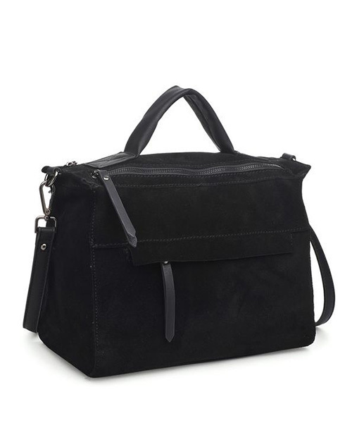 Harrison Satchel Bag - Black