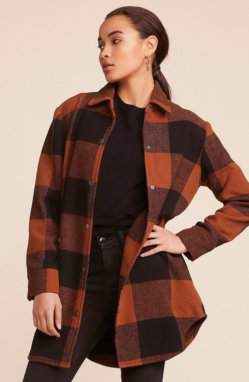 Eldridge Cognac Long Button Front Coat