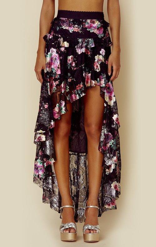 Benatar Tiered Ruffle Maxi Skirt
