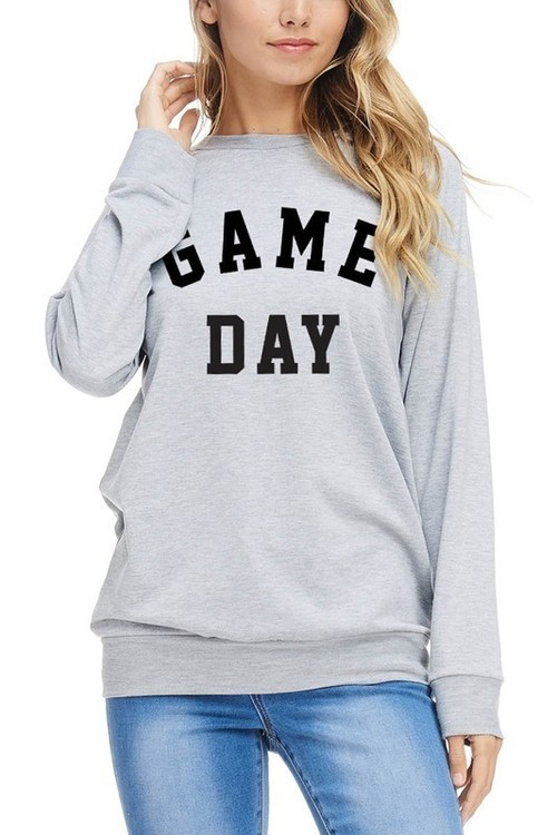 Heather Grey Game Day Pullover