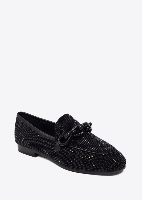 Black Strass Loafers