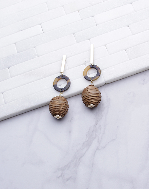 Rattan Ball Tortoise Dangle