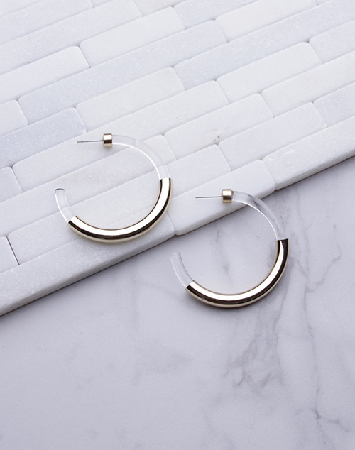 Lucite & Gold Hoop