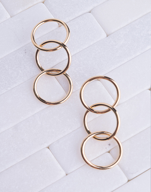 Circle Link 14K Plated Dangle