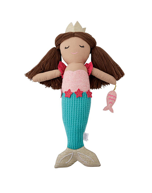 Blue Tail Mermaid Doll