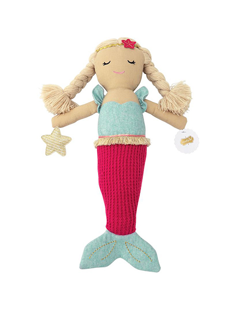 Hot Pink Tail Mermaid Doll