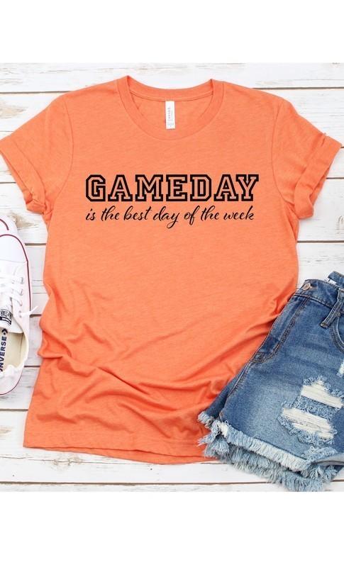 Orange Game Day Best Day Tee