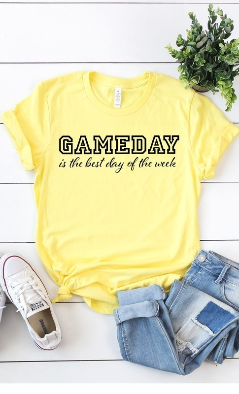 Yellow Game Day Best Day Tee