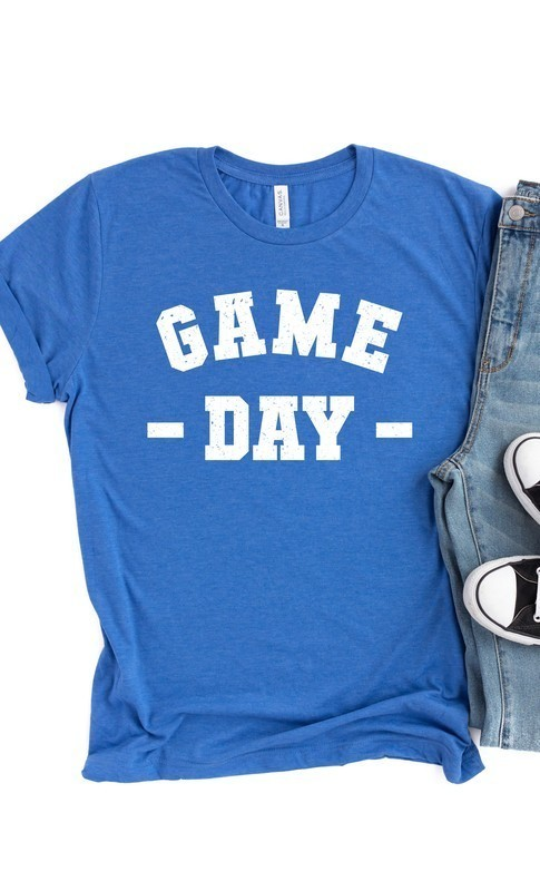 Heather Royal Blue Game Day Tee