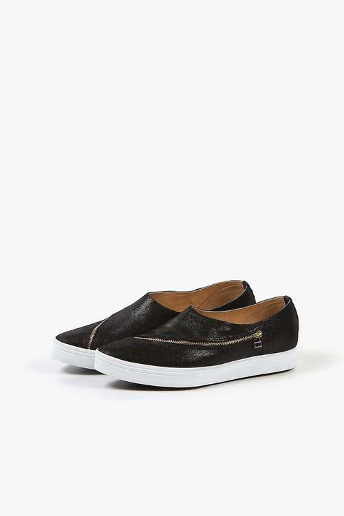 Slip-On Slant Zipper