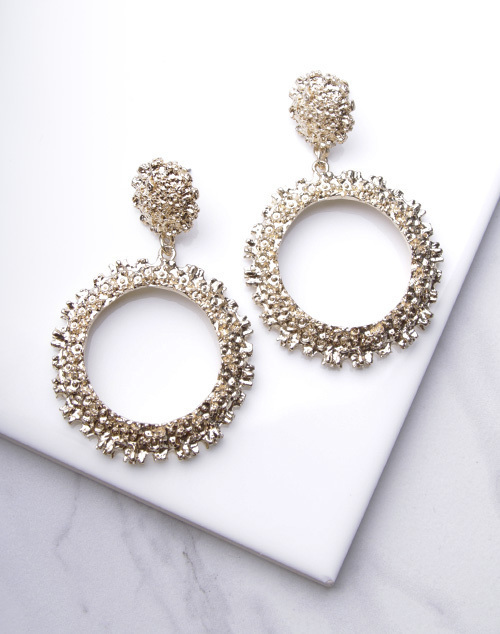 Chunky Gold Circle Dangle